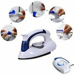 700 Watt Mini Travel Steam Iron with Foldable Handle, Compact & Lightweight (White)