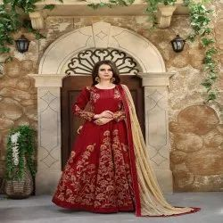 Long Party Wear Anarkali Suit