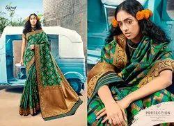 Ethnic Stylish Green Designer Bridal Saree