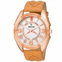 Brown Leather Men Watch