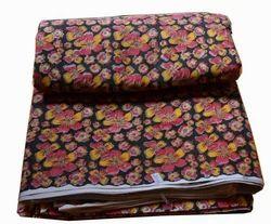 Hand Block Printed Cotton Indian Dressmaking Fabric Sanganeri Print