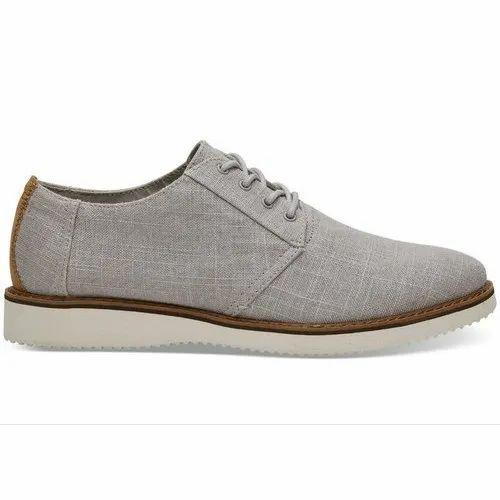 Canvas Plain Grey Linen Men' s Preston Dress Shoes, Size: 4-10