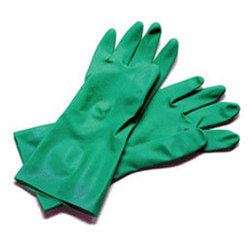 Green Plain Nitrile Gloves