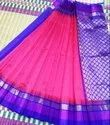 Indian Ethnic Designer Korvai Silk Cotton Temple Border Saree