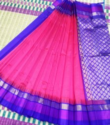 Indian Ethnic Designer Korvai Silk Cotton Temple Border Saree