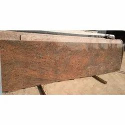 Polished Flooring Red Multicolor Granite Slab, Thickness: 15-20 mm