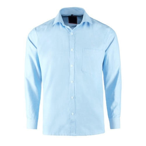 1eaef99579c Mens Full Sleeve Light Blue Plain Casual Wear Shirt