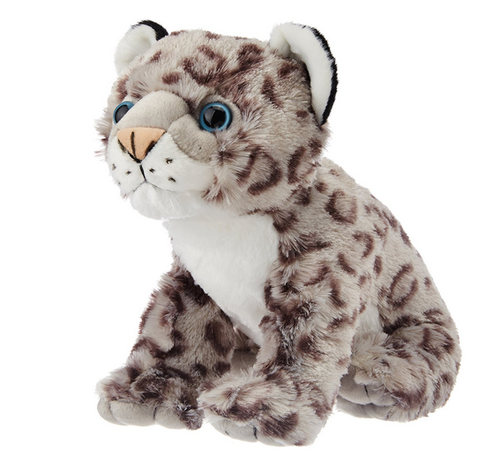 Wild Republic Cuddlekins Snow Leopard Baby Grey Black At Rs 644