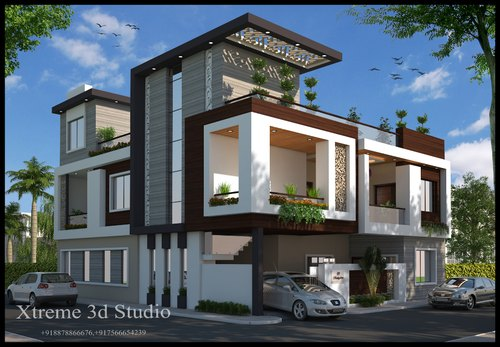 3d Exterior House Building Design Services In Indore Xtreme 3d Studio Id 20278878712