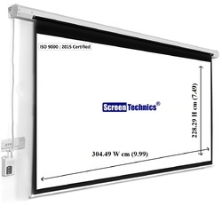 8x10 Motorized Projector Screen