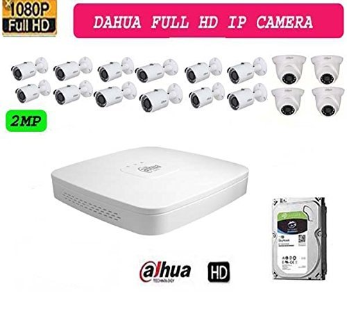 Dahua 16ch Hd Nvr 1pcs,dahua Ipc Hdw1230s Dome Camera 12pcs, Dahua Ipc  Hfw1230s Bullet Camera 4pcs