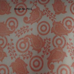 P111 Non Woven Metallic Printed Fabric