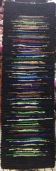 Multicolor Gujral Fashion Boarder Runner Rugs/ Hand-loom Durry