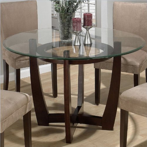 Round Glass Dining Table At Rs 8000, Dining Table Glass Round