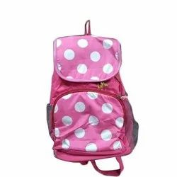 Pink Soft Fabric Ladies Fashion Backpack
