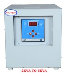VOLTVARY Micro controller Single Phase Servo Voltage Stabilizer, Capacity: 2kva To 5kva