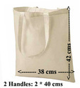2 Handles Basic Model Bag 100% Cotton Grocery Gada Natural Cotton Bags, Size/dimension: 25 X 36 Cm, Capacity: 5 Kgs