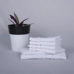 Plain Cotton White Hand Towel, Size: 14 X 21 Inches,16 X 24 Inches