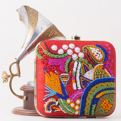 Women's Embroidered Clutch