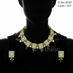 Traditional Bollywood Meenakari Necklace Set
