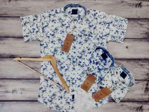 Mens Flower Print Shirt