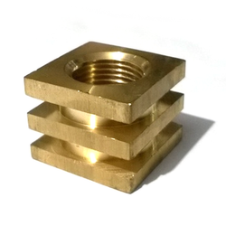 Brass Square Insert, For PARTY DEPEND, Size: M2 To M30