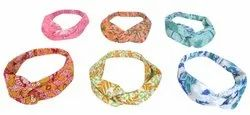 Head Rope Cotton Hand Printed Elastic Headband Bow Knot Hb3