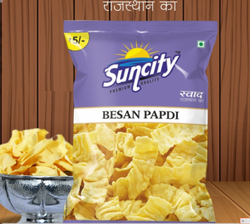 Suncity Besan Papdi Namkeen, Packaging Size: 25gm, Packaging Type: Packet