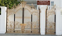 Silver Decorative WROUGHT IRON WITH C.I CASTING GATE, For Residential