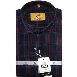 Dor Apparel Checks Mens Designer Slim Fit Cotton Shirt, Handwash, Size: M-xxl