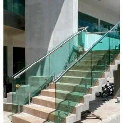 Mild Steel  Glass Railing