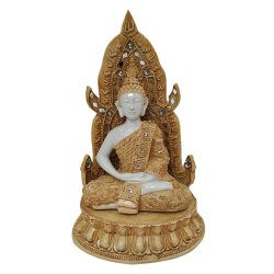 White Gautam Buddha Hand Close Statue