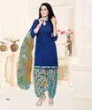 Crepe Printed Punjabi Salwar Kameez