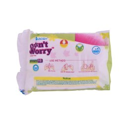 AG Girl Cotton And Pulf Anglo Goldy Breast Diapers, Size: Standard, Packaging Size: 10