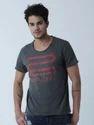 Anthramelange Medium And Large Men Cotton Casual Fashion Tees Shirts, Type : Half Sleeve