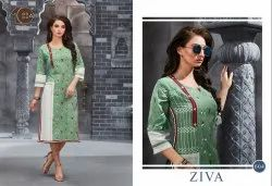 Ziva Ladies Embroidered Kurti