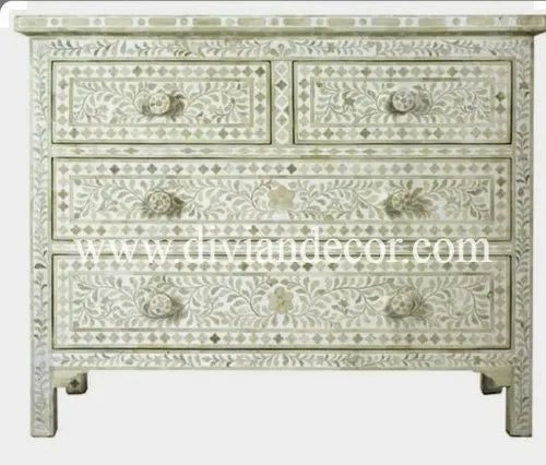 Oyster Mother of Pearl Chest of Drawer