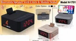 Bluetooth Speaker with Clock & Mobile Stand H-1701