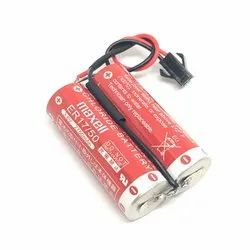 Maxell Battery ER17/50 x2 3.6V 5000mAh PLC Battery with black connector
