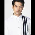 Green Hill Men''s Designer White Three Stripes Shirt