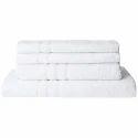 Bombay Dyeing Flora 4 Piece 400 GSM Cotton Towel Set - White