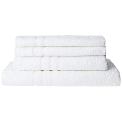 Bombay Dyeing Flora 4 Piece 400 GSM Cotton Towel Set - White