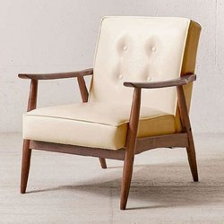 Wood Arm Chair, Finish: Polished