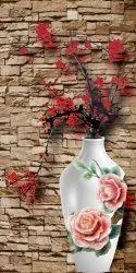 FLOWER PRINTED DIGITAL PVC DOOR