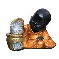 4 Inch Resin Buddha Showpiece, For Home Decoration, Dust With Dry Cloth