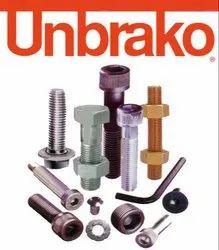 Hex Head High Tensile Steel Unbrako Hex Bolt Nut, Packaging Type: Box
