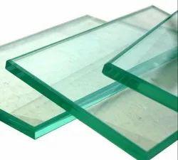 Transparent Plain 12mm Toughened Glass, Shape: Curve