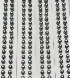 Grey 7mm Round Freshwater Loose Pearls Pairs