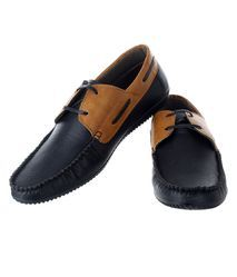 Formal And Party Wear Black And Brown Feetzone Black Formal Shoes, Size: Uk 7 To 11