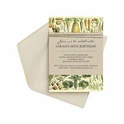 Rectangular Paper Baby Shower Card